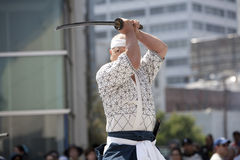 Nisei Week Swordsman Royalty Free Stock Photo