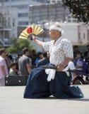 Nisei Week Swordsman Royalty Free Stock Photos