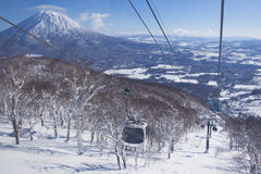 Niseko Village gondola Royalty Free Stock Image
