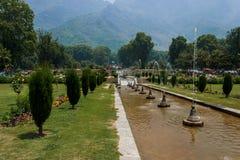 Nishat-bagh, Mughal-Gärten, Srinagar Lizenzfreie Stockbilder