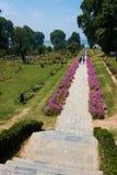 Nishat mughal trädgårdar, Srinagar Royaltyfri Foto
