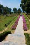Nishat mughal tuinen, Srinagar Royalty-vrije Stock Foto