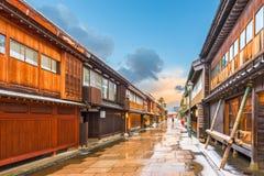 Nishi Chaya District in Kanazawa Japan. Kanazawa, Japan at the historic Nishi Chaya District in the winter stock image