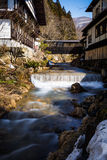 Nishi-Fluss und ryokan Lizenzfreies Stockfoto