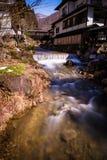 Nishi-Fluss und ryokan Stockfoto