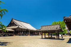 Nishi Hongan-ji, a buddhist temple in Kyoto Royalty Free Stock Photo