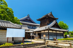 Nishi Hongan-ji, a buddhist temple in Kyoto Royalty Free Stock Photography