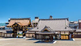 Nishi Hongan-ji, a buddhist temple in Kyoto Stock Photos