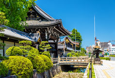 Nishi Hongan-ji, a buddhist temple in Kyoto Royalty Free Stock Image