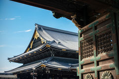 Nishi Honganji as seen through the main gate Royalty Free Stock Image