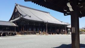 Nishi Honganji tempel i Kyoto Royaltyfria Foton