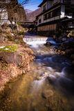 Nishi river and ryokan Stock Photo