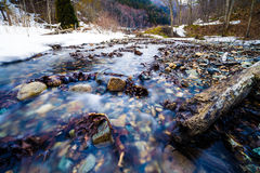 Nishi river in winter Royalty Free Stock Photo