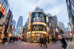 Nishi Shinjuku Shopping street in Tokyo Stock Photos