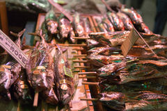 Nishiki food market Kyoto Japan Royalty Free Stock Images