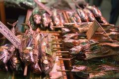 Nishiki jedzenia rynek Kyoto Japonia Obrazy Royalty Free