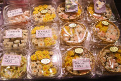Nishiki matmarknad Kyoto Japan Arkivbild