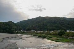 Nishiki River of Iwakuni, Japan stock image