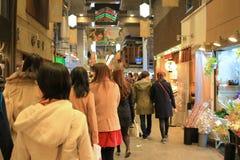 Nishikikoji Dori wet market at kyoto Royalty Free Stock Image