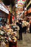 Nishikimarkt in Kyoto Stock Foto's
