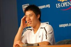 Nishikori Kei (JPN) in US öffnen 2008 (19) stockfoto