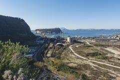 Nisida海岛和Coroglio 库存照片