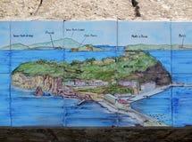 Nisida色彩强烈海岛  免版税图库摄影
