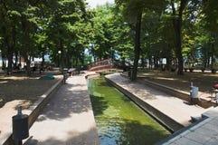 Niska Banja, Serbia - august,16.2018: Healing water in Niska Banja, famous spa and health resort in Serbia. Niska Banja is famous spa and healing resort in Royalty Free Stock Images