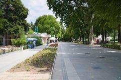 Niska Banja, Serbia - august,16.2018: Promenade in Niska Banja, famous spa and health resort in Serbia. Niska Banja is famous spa and healing resort in Serbia Stock Photography