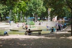 Niska Banja, Serbia - august,16.2018: Promenade in Niska Banja, famous spa and health resort in Serbia. Niska Banja is famous spa and healing resort in Serbia Royalty Free Stock Photography