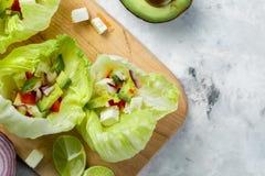 Niska carb taco alternatywa - bezskorupowy taco Zdjęcie Royalty Free