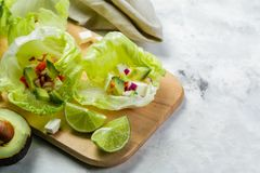 Niska carb taco alternatywa - bezskorupowy taco Zdjęcie Stock