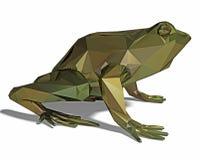Niska poli- żaba odizolowywająca Obraz Stock