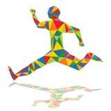 Niska Poli- biegacz ikona Obraz Stock