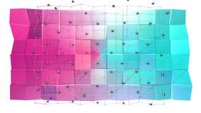 Niska poli- 3D powierzchnia z, czarne sfery jako fractal tło i Miękki geometryczny niski poli- tło ilustracji