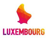 Niska poligonalna mapa Uroczysty Duchy Luksemburg Luxemburg w ilustracja wektor