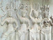 Niska ulga Apsara przy Angkor Wat Zdjęcie Royalty Free