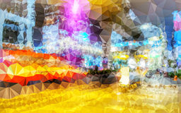 Niska wieloboka abstrakta tapeta Obrazy Royalty Free
