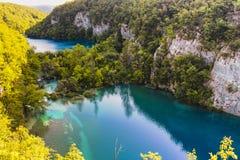 Niski jezioro przy Plitvice jezior parkiem narodowym zdjęcia royalty free