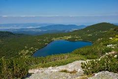 Niski jezioro Siedem Rila jezior, Rila góra Obraz Royalty Free
