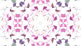 Niski poli- geometryczny abstrakcjonistyczny tło jako poruszający witrażu lub kalejdoskopu skutek w 4k Pętli 3d animacja zbiory wideo