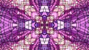 Niski poli- geometryczny abstrakcjonistyczny tło jako poruszający witrażu lub kalejdoskopu skutek w 4k Pętli 3d animacja zdjęcie wideo