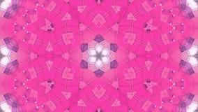 Niski poli- geometryczny abstrakcjonistyczny tło jako poruszający witrażu lub kalejdoskopu skutek w 4k Pętli 3d animacja ilustracja wektor