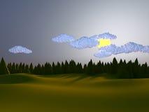 Niski poli- krajobraz Zdjęcie Stock
