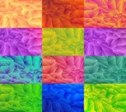 Niski poli- stylowy ilustracyjny graficzny tło set Zdjęcia Stock