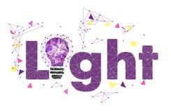 Niski Poli- stylu światło - purpurowa żarówka Wektorowa abstrakcjonistyczna ilustracja na odosobnionym tle Pomysł, lekki pojęcie  Zdjęcia Royalty Free