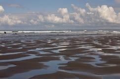 Niski przypływ przy Rhossili plażą zdjęcie stock