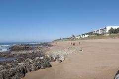 Niski przypływ przy Umdloti plażą, Durban Południowa Afryka Zdjęcia Royalty Free