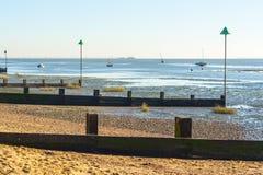 Niski przypływ przy Leigh na morzu Zdjęcie Royalty Free