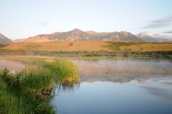 Niski Waterton jezioro Kanada Zdjęcia Royalty Free